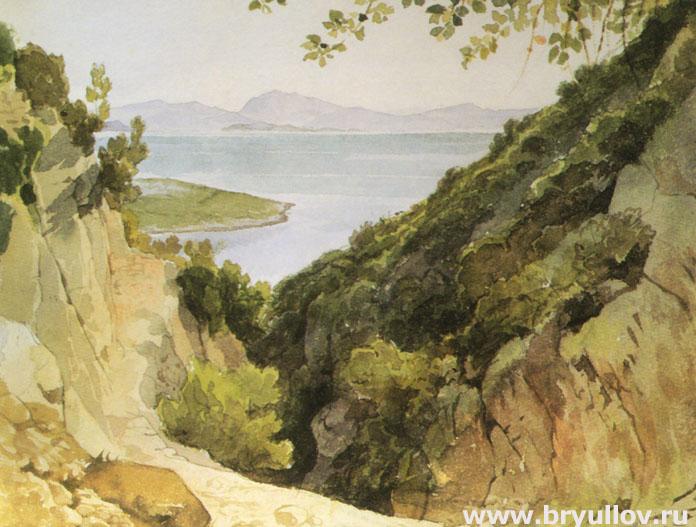 Вид Акарнании от источника Аретузы.