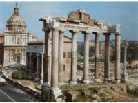 Остатки колоннады Храма Сатурна в Риме