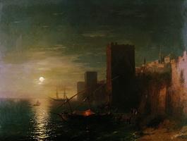 Лунная ночь в Константинополе (И.К. Айвазовский, 1862 г.)