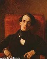 Портрет писателя А. Струговщикова. 1840