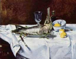 Натюрморт с лососем (Эдуард Мане)