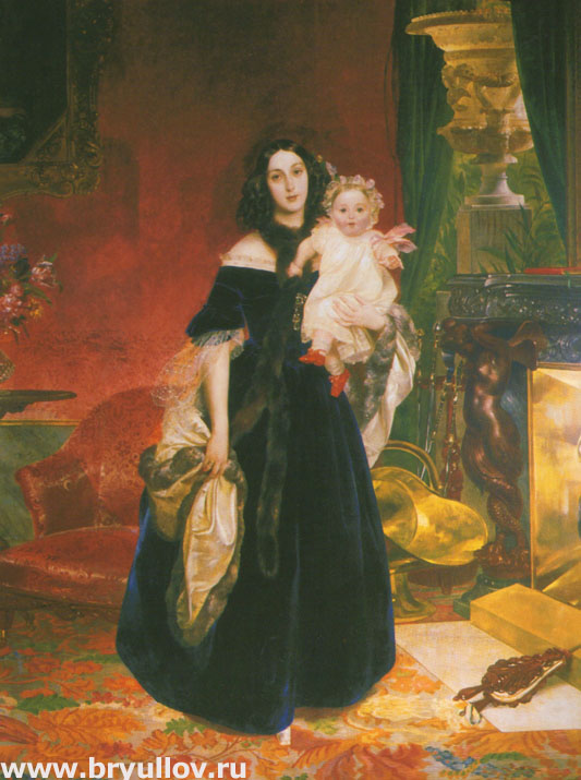 Портрет Марии Бек с дочерью Марией