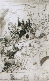 Осада Пскова (эскиз)