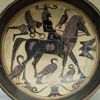 Изображение всадника (чаша чернофигурного стиля из Лаконии)