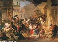 Нашествие Гензериха на Рим.Эскиз.1836