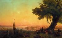 Вид Константинополя при вечернем освещении (И.К. Айвазовский, 1846 г.)